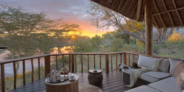 Kenya - Tsavo & Chyulu Hills - Finch Hattons Luxury Tented Camp - Terrace