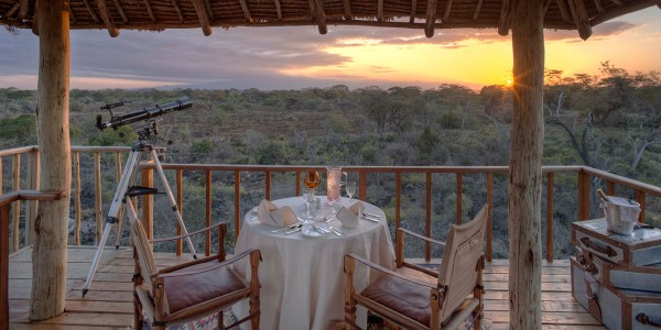 Kenya - Tsavo & Chyulu Hills - Finch Hattons Luxury Tented Camp - View
