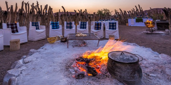 Namibia - Damaraland - Damaraland Camp - Fireplace