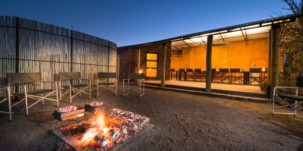 Namibia - Damaraland - Etendeka Mountain Camp - Fireplace