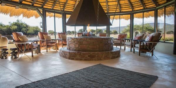 Namibia - Okonjima & The Africat Foundation - Okonjima Bush Camp - Indoor fireplace