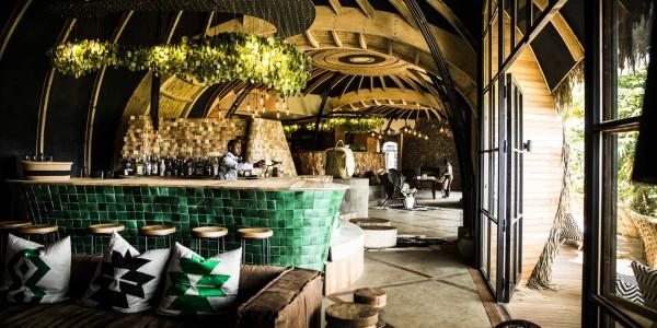Rwanda - Parc National des Volcans - Bisate Lodge - Bar