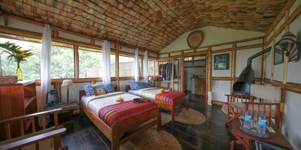 Uganda - Bwindi National Park - Nkuringo Bwindi Gorilla Lodge - Twin Cottage