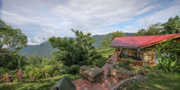Uganda - Bwindi National Park - Nkuringo Bwindi Gorilla Lodge - Villa Exterior