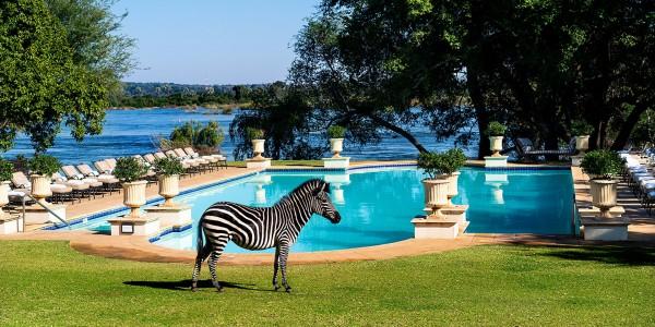 Zambia - Livingstone - Royal Livingstone Hotel - Pool