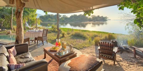 Zambia - Lower Zambezi National Park - Chongwe River Camp - Fireplace
