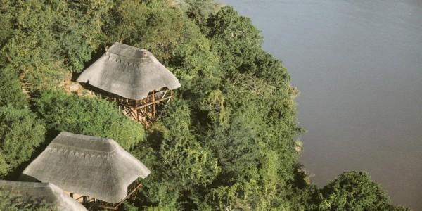 Zimbabwe - Gonarezhou National Park - Chilo Gorge Safari Lodge - Aerial
