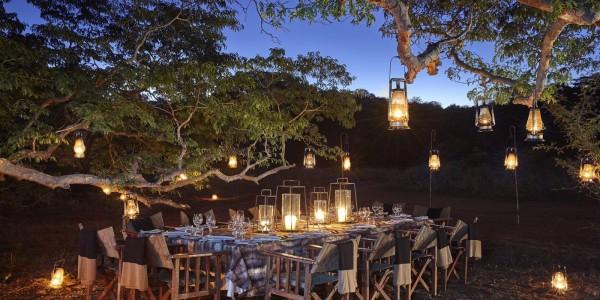 Zimbabwe - Malilangwe Private Wildlife Reserve - Singita Pamushana Lodge - Bush Dinner