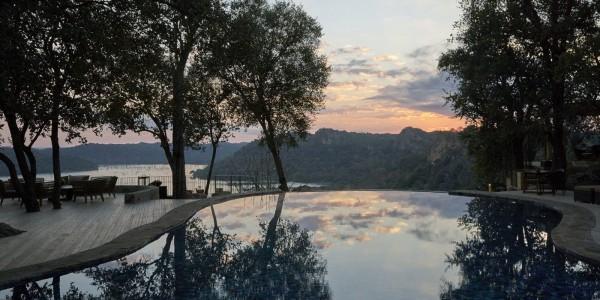 Zimbabwe - Malilangwe Private Wildlife Reserve - Singita Pamushana Lodge - Pool