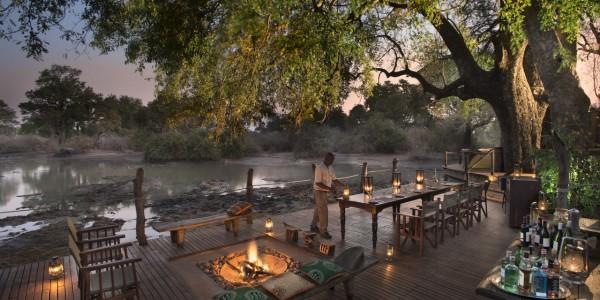 Zimbabwe - Mana Pools National Park - Kanga Camp - Main Area at Night