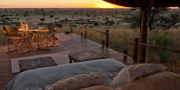 South Africa - The Kalahari - TSWALU The Motse - Bed with View
