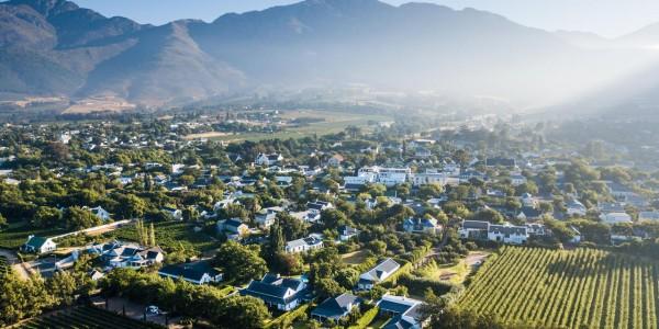 South Africa - Winelands - La Clé des Montagnes - Aerial View