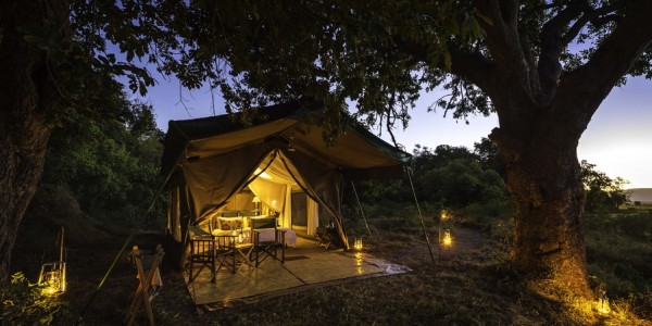 Zimbabwe - Mana Pools National Park - John's Camp - Tent