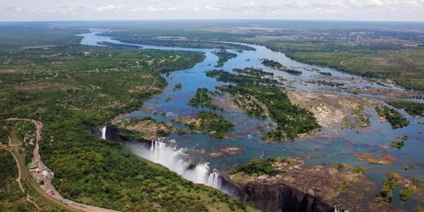 Zimbabwe - Victoria Falls - Matetsi River Lodge - Aerial