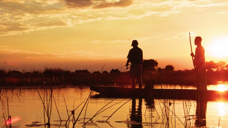 Africa - Botswana - Footsteps fishing