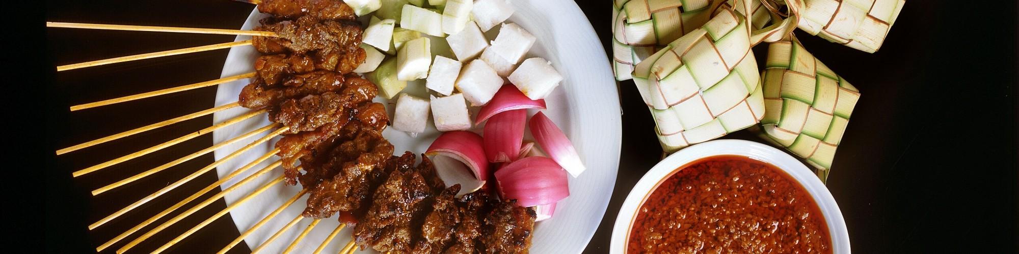 Local Food Satay - & Ketupat (Boilad Rice)