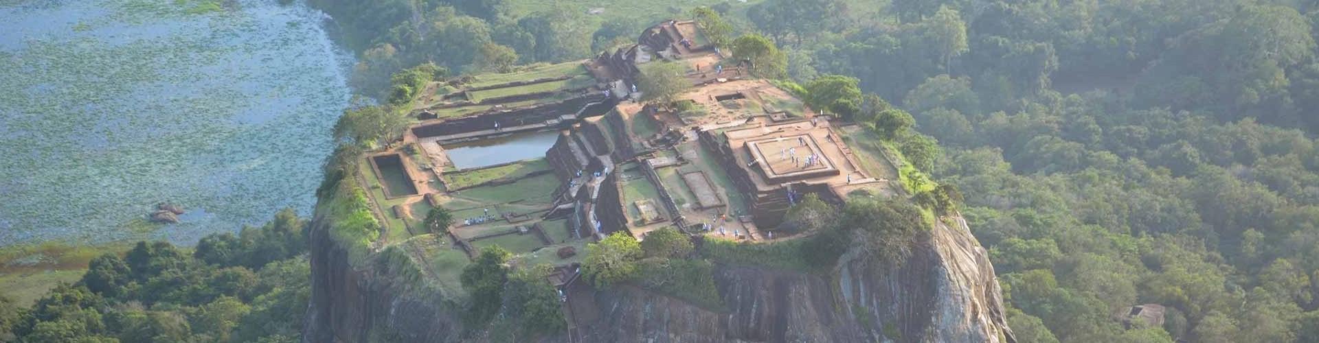 Aerial view of Sigiriya Rock Fortress