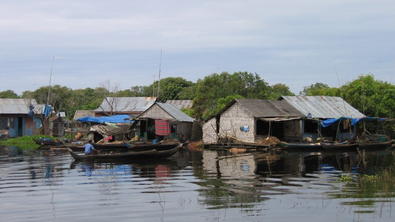 Floating Houses Tonle Sap Lake_Siem Reap_Cambodia