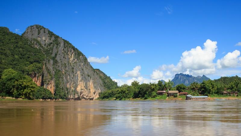 Nam Ou area on the Mekong River located near Pak Ou Cave, Luang Prabang, Laos