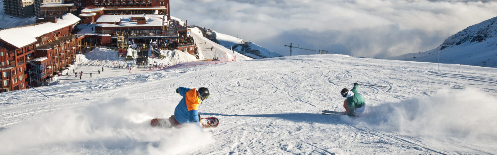 Valle Nevado skiing snow mountain