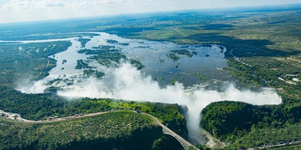 Zimbabwe - Victoria Falls - Aerial View