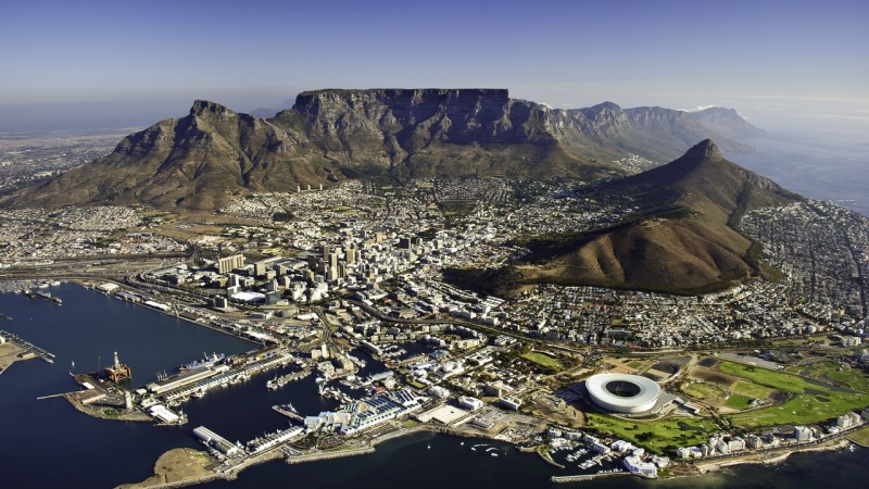 South Africa - Cape Town - cpt.aerial view