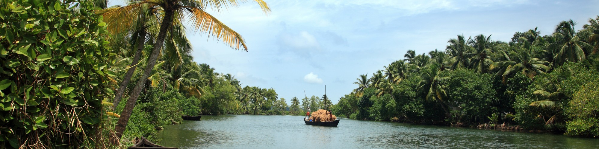 Backwater scenery from Kerala, India.