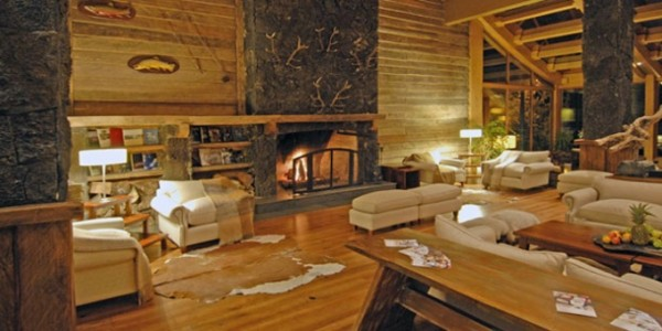 Chile - Santiago - The Lake District - Hotel Cumbres - Fireplace