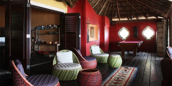 Belize - Ambergis and Caulker Cayes - Mata Chica - Recreation Room