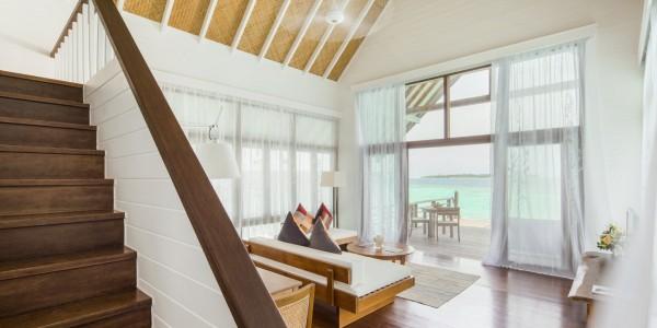 Maldives - Cocoa Island - Accommodation - Loft Villa Living Room