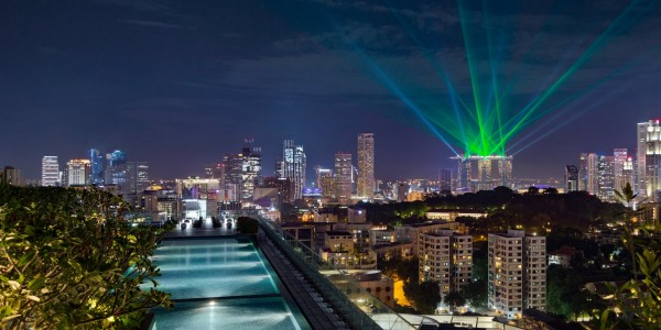Hotel Jen Orchardgateway Singapore - Pool - Night - 1127077 (2)