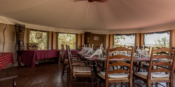 Kenya - Masai Mara - Hemingways Ol Seki Mara Camp - Dining