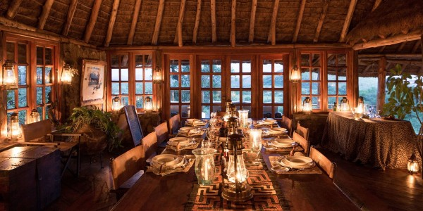 Kenya - Tsavo & Chyulu Hills - Campi ya Kanzi - Dining