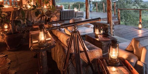 Kenya - Tsavo & Chyulu Hills - Campi ya Kanzi - Viewing Deck