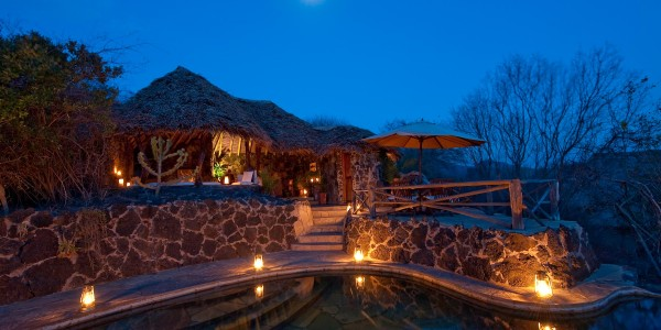 Kenya - Tsavo & Chyulu Hills - ol Donyo Lodge - Night