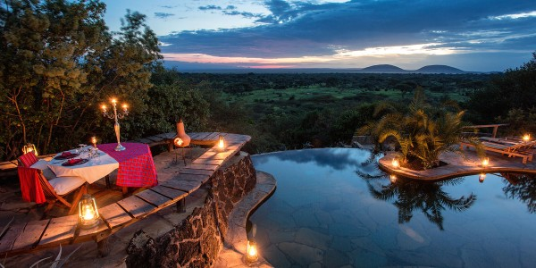 Kenya - Tsavo & Chyulu Hills - ol Donyo Lodge - Pool