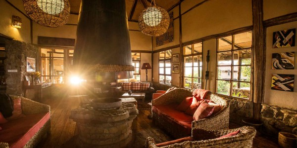 Rwanda - Parc National des Volcans - Virunga Lodge - Inside